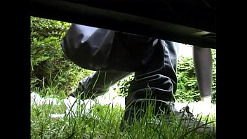 Desperate milf piss on the street while her car is broken. Kinky Mylf