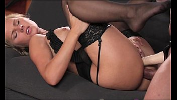 Hot Babe In Black Stockings Gets Fucked And Received A Creampie In Her Tight Pussy