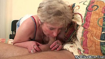 Wife finds her very fat mother riding his cock!