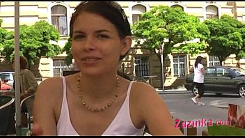 Public Agent Pretty skinny student receives facial in cheap Czech hotel