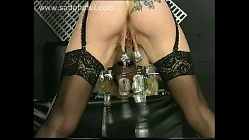 gag ball and nipple clamps pussy licking