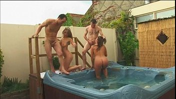 Lustful wife cheats on her husband with his brother in jacuzzi - depraved and beautiful sex