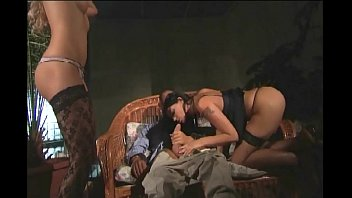 Two sexy babes gets fucked by a shemale tranny - Shemale Fuck Fest