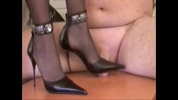 CBT Trample stomp with two cruel ladies - Double trampling