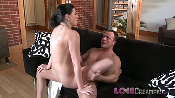 Eating up my massive cum shot I deposited on my fake pussy toy (Kira Noir) after making love to it