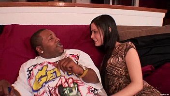 Sexy Coco Velvett takes a big black cock on the couch!