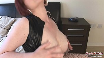 Busty redhead's asshole gets pounded by a dildo and a big cock
