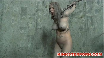 Painslut: knotted rope & tabasco clit & pussy torture, cums & squirts